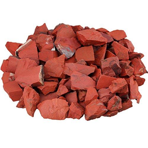 rockcloud 1 lb Natural Healing Crystal for Cabbing,Tumbling,Cutting,Lapidary,Polishing,Reiki Crytsal Healing,Red (Polishing Rock)