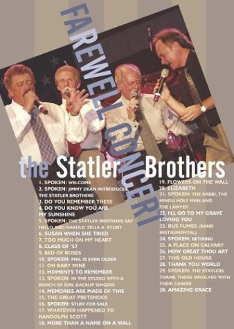 The Statler Brothers: Farewell Concert by COMPENDIA MUSIC GROUP