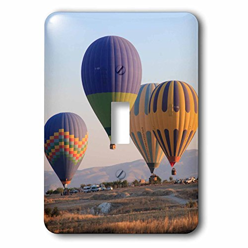 3dRose Danita Delimont - Travel - Turkey, Anatolia, Cappadocia, Goreme. Hot air balloons at lift off. - Light Switch Covers - single toggle switch (lsp_277001_1) by 3dRose