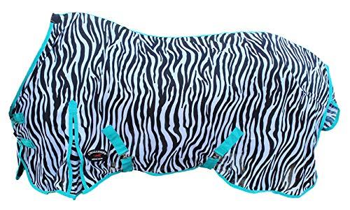 """Challenger Horsewear 70"""" Horse Fly Sheet Summer Spring Airflow Mesh UV Zebra 7321"""
