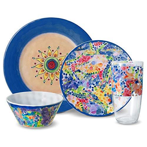 Pfaltzgraff Merisella 32 Piece Melamine Dinnerware Set, Service for 8