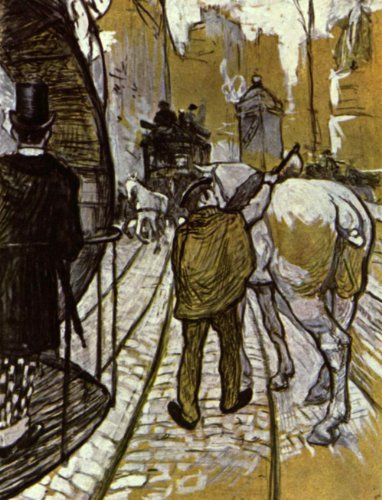 Artisoo The Coastal bus company Oil painting reproduction - Free Shipping Size: 30 x 23 inches - Henri de Toulouse-Lautrec