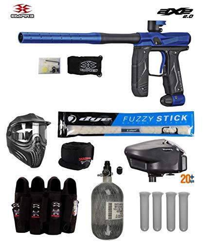 MAddog Empire Axe 2.0 Tournament Elite Paintball Gun Package A - Dust Blue/Dust Black