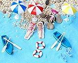20 Pcs Fairy Garden Kits Figurines for Beach Miniatures Ornaments Fairies Gardens House Terrarium Kit Dollhouse Supplies DIY Outdoor Decorations Boat Ship Beach Chair Seascape