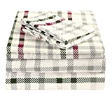 Brielle 100-Percent Cotton Flannel Sheet Set, Queen, CrissCross