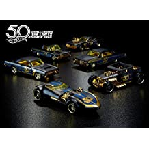 Hot wheels 50th Anniversary Black & Gold 6 Car Set 2018 (sorted)