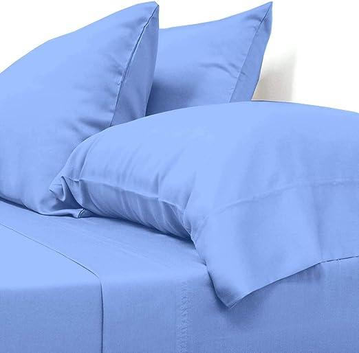 1000 TC EGYPTIAN COTTON SHEET SET//DUVET SET//PILLOW*Blue SOLID Twin//Full//Queen