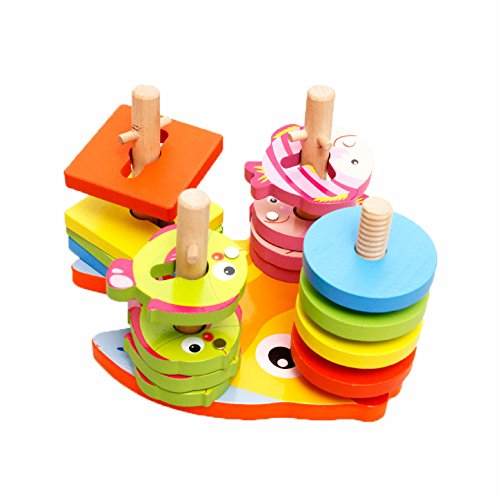 2 In 1 Shapes Sorter Twister And Magnetic Fish Game