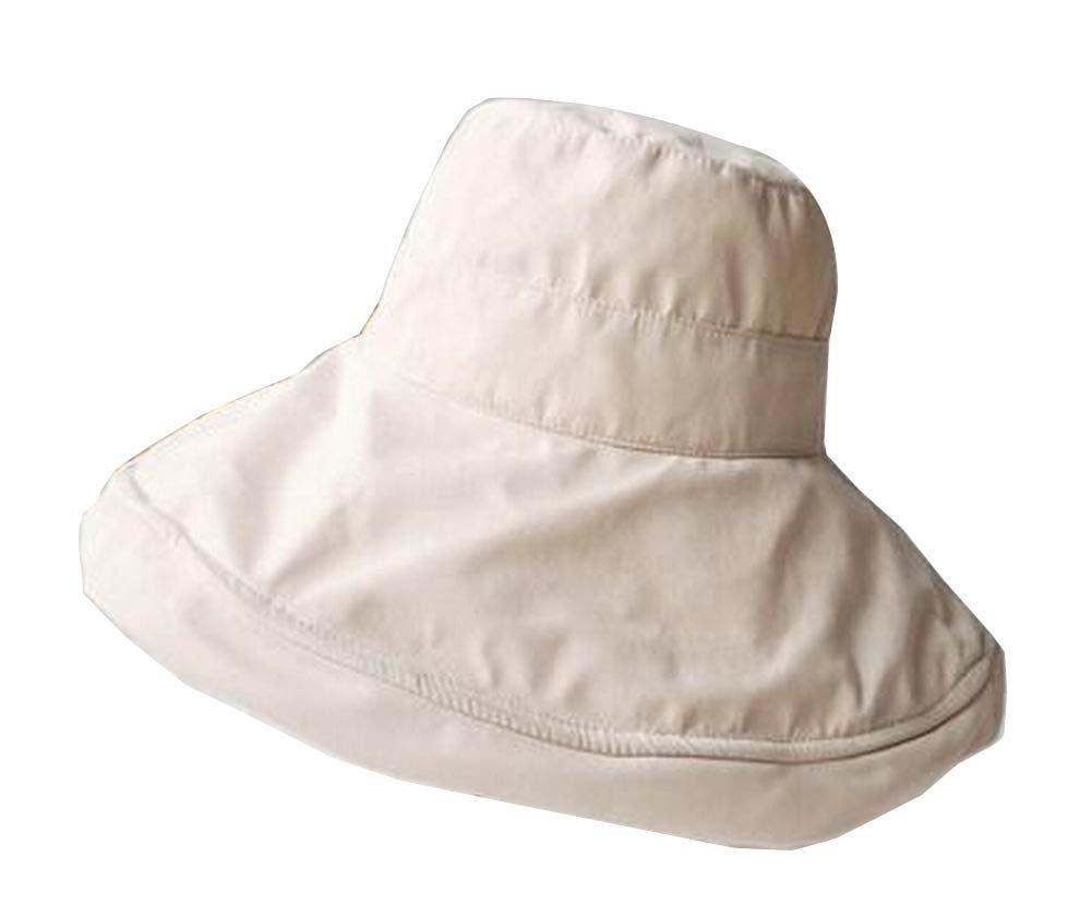 Alien Storehouse [Beige] Lady Foldable Sun Hat Elegant Top Hat Dress Hat Beach Hat