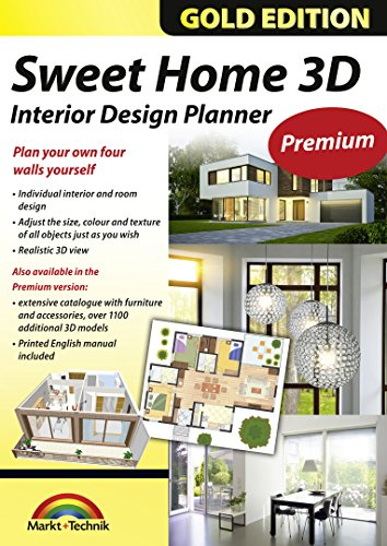 Sweet Home 3D Premium Edition - Interior Design Planner with an additional 1100 3D models and a printed manual, ideal for architects and planners - for Windows 10-8-7-Vista-XP & MAC (List Of Best Architects)