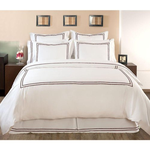 Home Decorators Collection Hotel Embroidered Duvet Cover, KING-NO MONOGRM, PINECONE PATH
