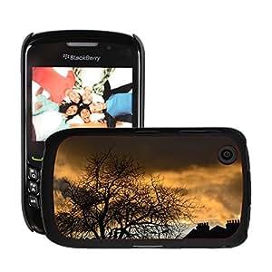 Print Motif Coque de protection Case Cover // M00153629 Sun Noche de noche rojo de Blue Sky // Blackberry 8520 9300