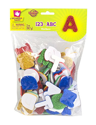 Creative Hands Glitter 123/Abc Stickers