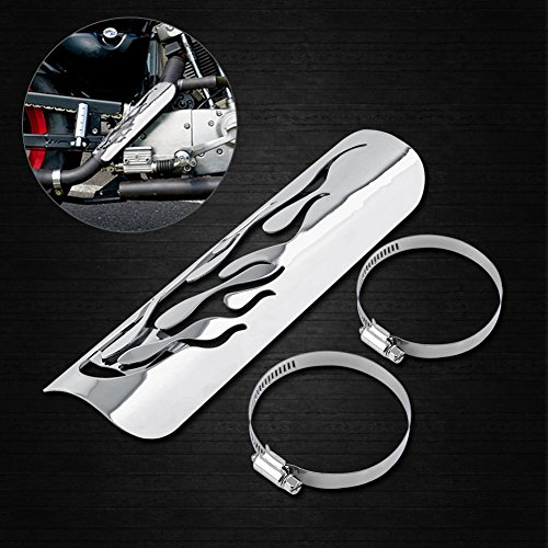 Chrom Shield Refit Exhuast Heat Shield Guard Cover ( Color : Silver ) by VGEBY (Image #6)