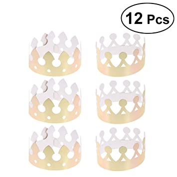 Gold BESTOYARD 10pcs Party Crown Birthday Party Hats for Birthday Celebration Baby Shower Photo Props