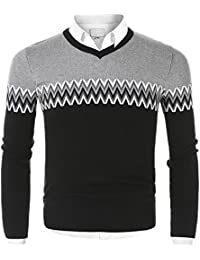 Men's Crew Neck Long Sleeve Pullover Knit Sweater