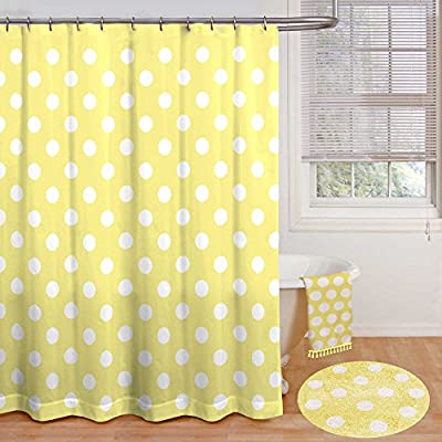 """Polly Polka Dot Inch x 72, 72"""" by 72"""", Yellow - Measures 72"""" by 72"""" Made from 100% polyester The Polly Shower Curtain offers classic polka dot style for your bathroom - shower-curtains, bathroom-linens, bathroom - 51974wVaVML. SS400  -"""