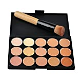 15 Colors Facial Camouflage Concealer Cream Foundation Makeup Palette with Brush, #2