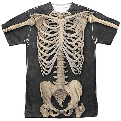 Skeleton Costume Tee T-Shirt Size (Guys Skeleton Costumes)