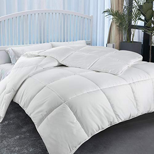 Comforter Soft Quilted - Down Alternative Duvet Insert with Corner Tabs Warm Winter, Fluffy Reversible Hotel Collection, Hypoallergenic for All Season (Queen(88