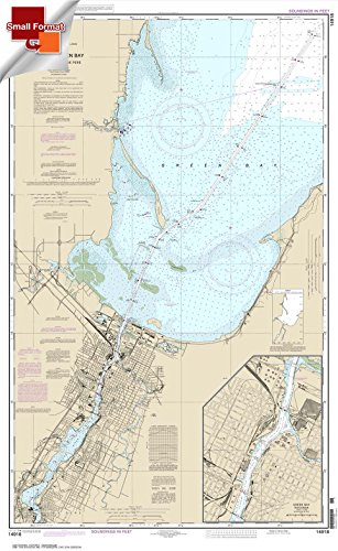 Paradise Cay Publications NOAA Chart 14918: Head of Green Bay: including Fox River below De Pere; Green Bay 21.00 x 34.22 (SMALL FORMAT WATERPROOF)