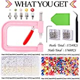 Pearl Setting Machine Pink with 2 Boxes of 5 sizes