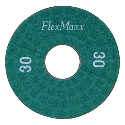 FlexMaxx 5‑Inch Concrete Polishing Pads, Coarse, 30 Grit (3 Units)