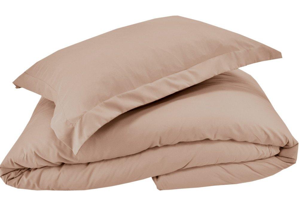 Mezzati Luxury Shams Set of 2 – Soft and Comfortable 1800 Prestige Collection – Brushed Microfiber Bedding(Beige, Set of 2 Standard Size Shams Size)