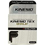 "Kinesio Tex Gold, Black Roll of Kinesio Tape, 2"" X 16.4"""
