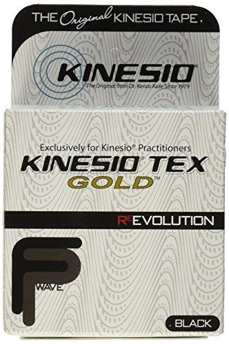 Tex Tape - Kinesio Tex Gold Finger Print Tape, Black