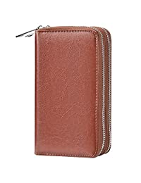 BANGBO Premium PU Leather Double ZipperWallet Handbag Purse Card Case Money Organizer Phone Holder for Cell Phone IPhone 7/7 Plus/SE/6S/6 Plus/5S and Samsung Galaxy S8/8 Plus/S7/S6