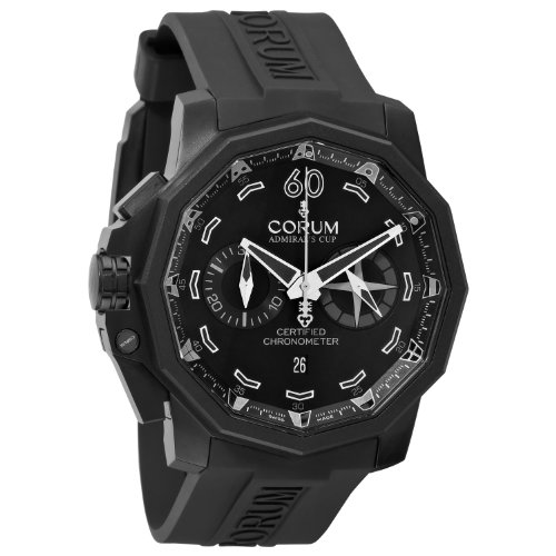Corum Admiral Cup Seafender Black Dial Automatic Rubber Men Watch 753.231.95/0371 AN13