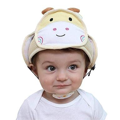Zhongke Bebé Casco de Seguridad Ajustable Sombrero Protección para la Cabeza Protección Infantil Sombrero de Protección Sombrero Cabeza Protector Casco: ...
