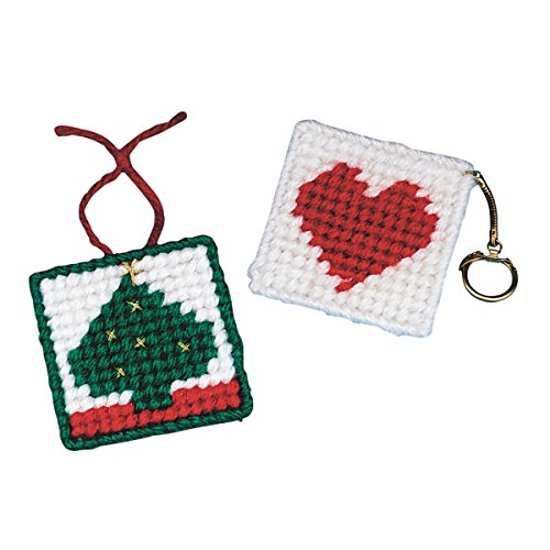 Needlepoint Heart (Allen Diagnostic Module Needlepoint Heart Key Rings (pack of 6))