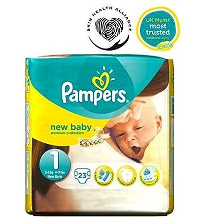 Pampers Nueva Pañales Para Niños Tamaño 1 Paquete De Acarreo - 23 Pañales (Paquete de