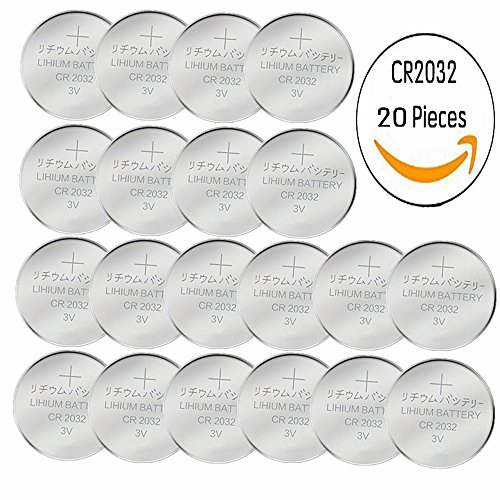 Price comparison product image 20 pcs Pack - CR2032 Lithium Battery 230mAh 3v Button Cell Coin 2032 battery Nightkonic High Energy