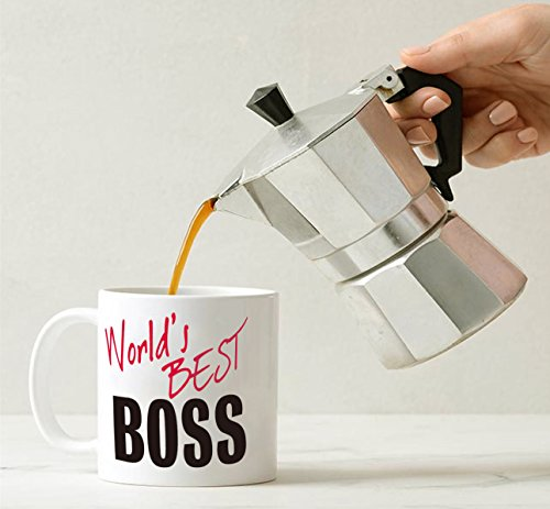 MAUAG Christmas Gifts World\'s Best BOSS Coffee Mug Funny Ceramic Mug ...