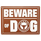 "Cheap Pets First Collegiate Texas Longhorns ""Beware of Dog"" Sign, 10 x 14″"
