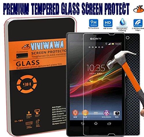 Viviwawa 0.3mm Ultra-thin Tempered Glass Screen Protector (Sony Xperia Z L36h C6602/c6603)