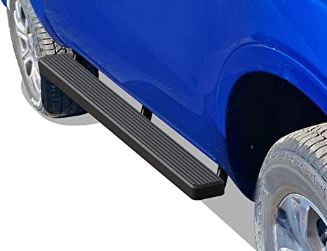 MaxMate Custom Fit 2019-2020 Ford Ranger SuperCrew Cab 4 inch Oval Stainless Steel Side Step Rails Nerf Bars Running Boards