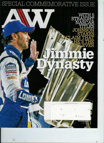 AutoWeek Magazine Special Commemorative Issue with 5 Straight Nascar Titles Johnson Stakes Claim That He's The Best Ever, December 6, 2010