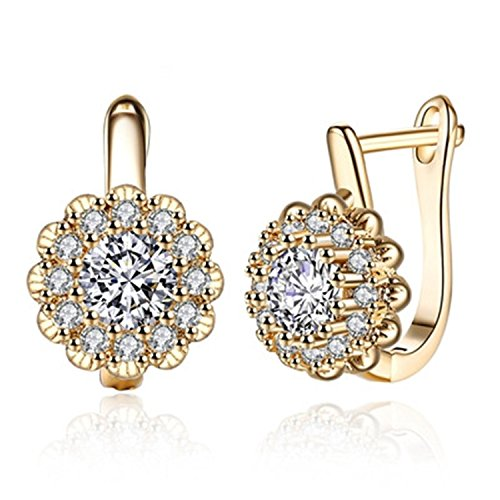 Earings Women Fashion Shiny Hoop Earrings Women White Gold/Gold Color Earring - Tiffany And Online Outlet Co