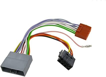 [ZTBE_9966]  Amazon.com: Wiring Harness Adapter for Honda CR-V 2007- ISO Stereo Plug  Adaptor: Car Electronics | 2015 Honda Cr V Stereo Wiring |  | Amazon.com