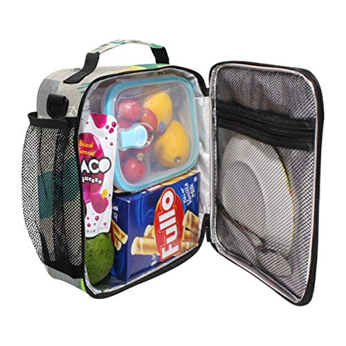 Durable Insulated Lunch Box,Halloween Pattern Happy Tote Reusable Cooler Bag LARGER Greater Storage Waterproof Grocery Bag to School Office Work]()