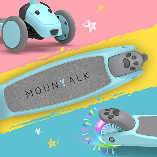 Mountalk 3 Wheel Scooters for Kids, Kick Scooter for Toddlers 2-6 Years Old, Boys and Girls Scooter with Light Up Wheels, Mini Scooter for Children, for Ride On Toys