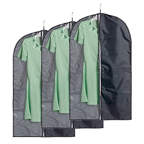 [Yerwal Set of 3 Breathable Garment Bags Cover with Clear Window, Perfect Stroage for Luggage, Suit, Dress, Coat or] (Couples Dance Costumes)