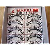 Model 21 High End No. 12,13,14,15,16,17,18,19 or 20 False Fake Eyelashes 10 Pairs