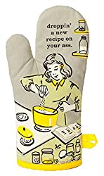 "Blue Q Oven Mitt ""Droppin' A New Recipe"", Greyyellow, One Size"