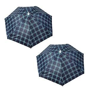 2 Pcs Headwear Umbrella Hat Outdoor Brolly Sun Rain Fishing Camping
