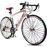 Merax® Finiss Aluminum 21 Speed 700C Road Bike Racing Bicycle Shimano